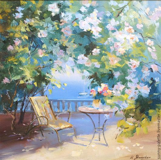 Картины цветов ручной работы. Ярмарка Мастеров - ручная работа. Купить Роза цветёт.60х60  живопись. Handmade. Розы, отдых