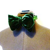 Аксессуары handmade. Livemaster - original item Tie Public Man emerald velvet. Handmade.