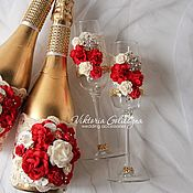 Свадебный салон handmade. Livemaster - original item Glasses for the newlyweds
