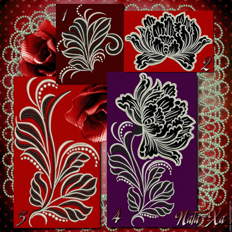 Дизайны рисунков машинной вышивки