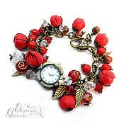 Украшения handmade. Livemaster - original item women`s wrist watch bracelet with the colors of the skin. watches women. Handmade.