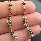 Материалы для творчества handmade. Livemaster - original item Pendant with green beads art. 4-13 on a chain. Handmade.