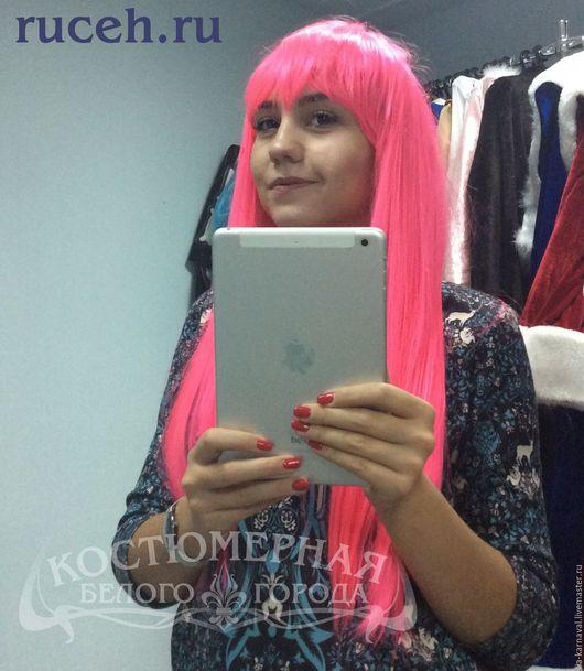 Комплекты аксессуаров ручной работы. Ярмарка Мастеров - ручная работа. Купить Аксессуар Парик длинные розовые прямые волосы. Handmade.