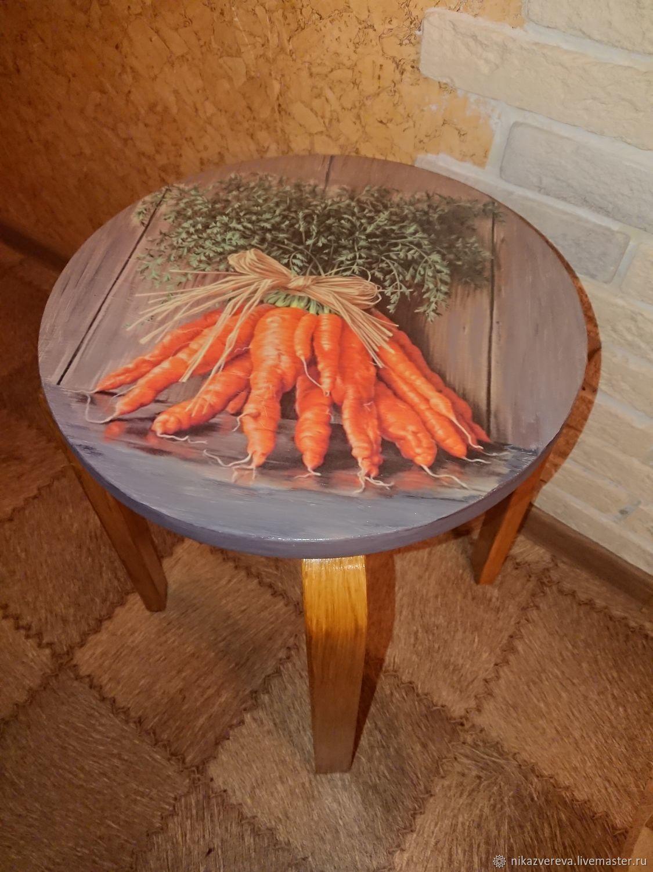 Decoupage stool ' love-Carrot', Stools, St. Petersburg,  Фото №1