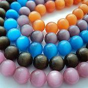 Материалы для творчества handmade. Livemaster - original item Large cat eye smooth beads beads 16mm. Handmade.