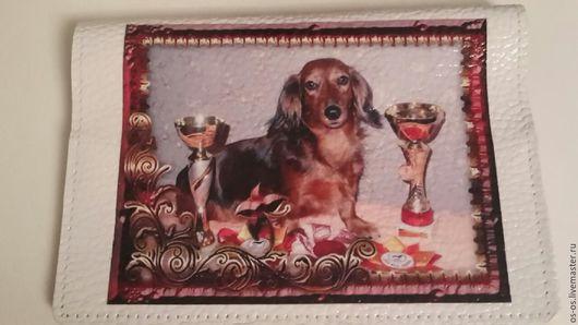 Аксессуары для собак, ручной работы. Ярмарка Мастеров - ручная работа. Купить Обложка на ветпаспорт. Handmade. Комбинированный, кошка, ветеринарный паспорт