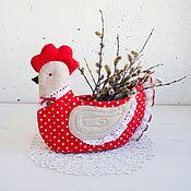 Для дома и интерьера ручной работы. Ярмарка Мастеров - ручная работа Сухарница, конфетница, корзинка для яиц Курочка. Handmade.