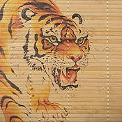 Фен-шуй и эзотерика ручной работы. Ярмарка Мастеров - ручная работа бамбуковое панно Красная кошка. Handmade.