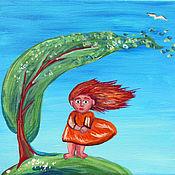 Картины и панно ручной работы. Ярмарка Мастеров - ручная работа Картина Ветерок. Handmade.