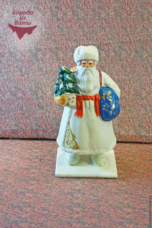 Реставрация. Ярмарка Мастеров - ручная работа. Купить Дед Мороз.. Композитный(опилочный). Реставрация. Handmade. Белый, бумажный мороз, борода из ваты