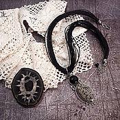 """Украшения ручной работы. Ярмарка Мастеров - ручная работа Чокер """"Чёрное и белое"""" яшма, авторская фурнитура. Handmade."""