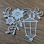 Материалы для творчества handmade. Livemaster - original item Cutting for scrapbooking. The lantern on a branch with flowers. Handmade.
