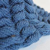 """Аксессуары ручной работы. Ярмарка Мастеров - ручная работа снуд """"глубокое синее море"""". Handmade."""