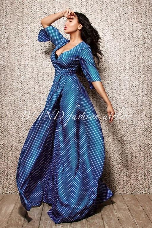 Платья ручной работы. Ярмарка Мастеров - ручная работа. Купить Платье из вискозного шелка 00042. Handmade. Синий, платье, лето