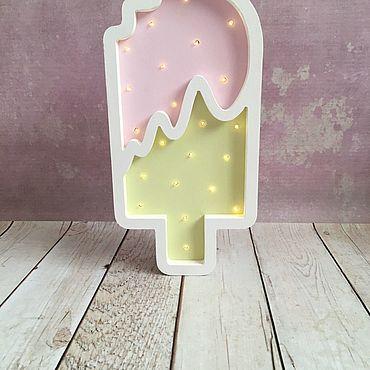"""Для дома и интерьера ручной работы. Ярмарка Мастеров - ручная работа Ночник """"Мороженое"""". Handmade."""