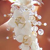 Свадебный салон ручной работы. Ярмарка Мастеров - ручная работа Свадебный ободок с маленькими лилиями. Handmade.