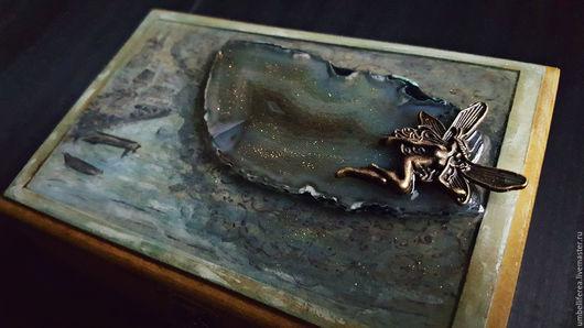 """Шкатулки ручной работы. Ярмарка Мастеров - ручная работа. Купить Шкатулка """"В морском ветре слышна песнь океанид"""". Handmade."""