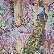Картины и панно handmade. Livemaster - original item Embroidered picture of a Peacock. Handmade.