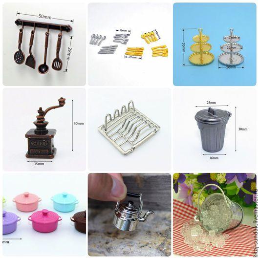 Куклы и игрушки ручной работы. Ярмарка Мастеров - ручная работа. Купить Посуда и аксессуары 1:12 для кукольной кухни. Handmade.