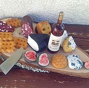 Куклы и игрушки handmade. Livemaster - original item Food for dolls - Cheese board for dollhouse miiature. Handmade.