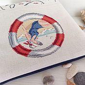 Сумки и аксессуары handmade. Livemaster - original item Cosmetic bag zipper hand embroidery cross Vacation at sea. Handmade.