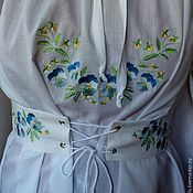 Одежда handmade. Livemaster - original item Summer blouse with embroidery