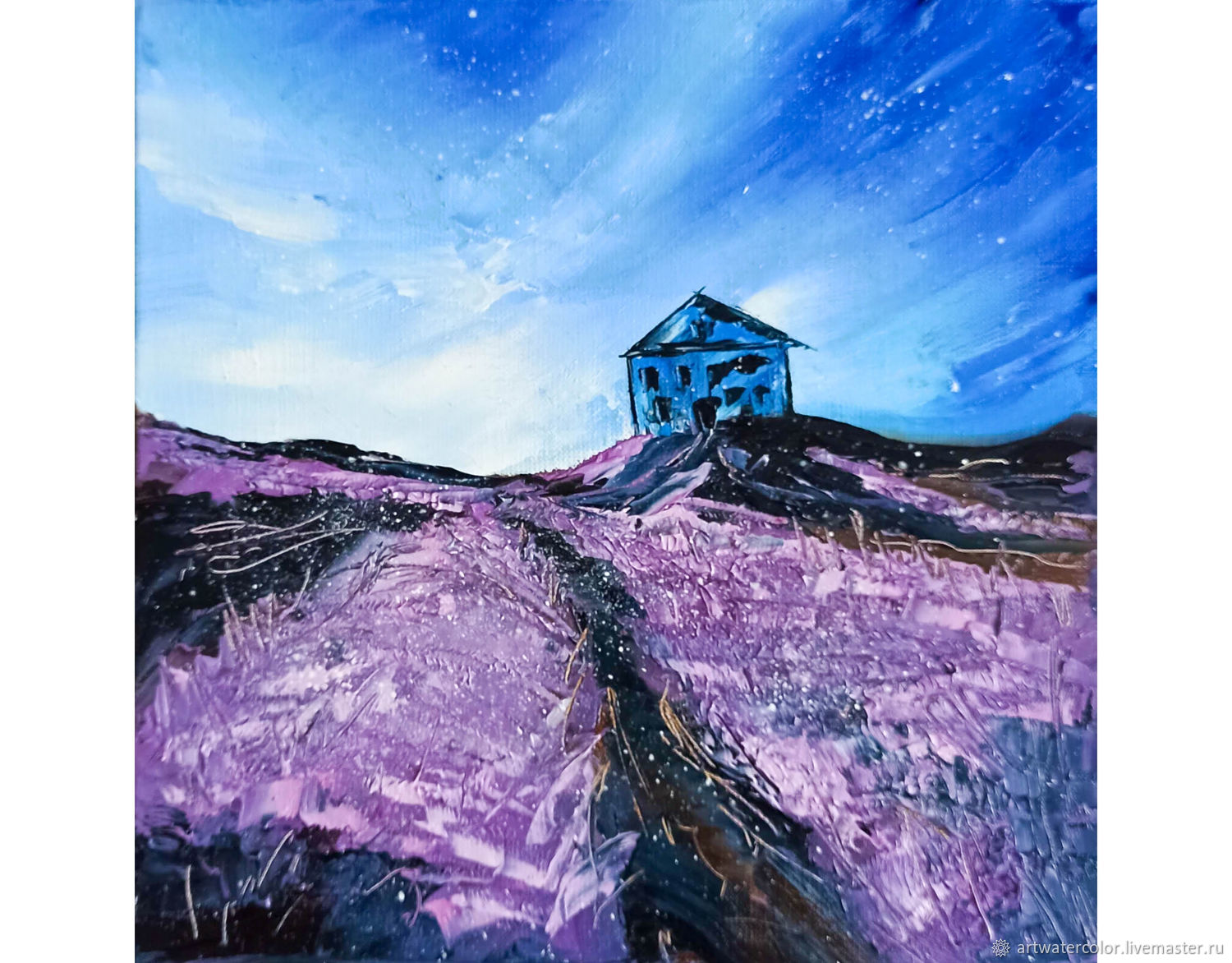 Oil painting Night in Provence Abstract Landscape, Pictures, Moscow,  Фото №1