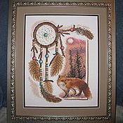 """Картины и панно ручной работы. Ярмарка Мастеров - ручная работа вышитая картина """"Ловец снов"""". Handmade."""