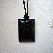 Украшения handmade. Livemaster - original item The pendant is made of jet. Handmade.