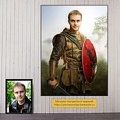 Картины и панно handmade. Livemaster - original item Male portrait as a knight. gift for birthday. Handmade.
