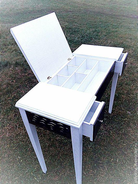 Мебель ручной работы. Ярмарка Мастеров - ручная работа. Купить Столик  туалетный волныV2. Handmade. Комбинированный, для дачи, венге