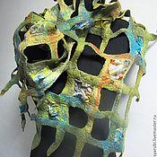 """Аксессуары ручной работы. Ярмарка Мастеров - ручная работа Валяный шарф  в технике""""Тиффани"""". Handmade."""