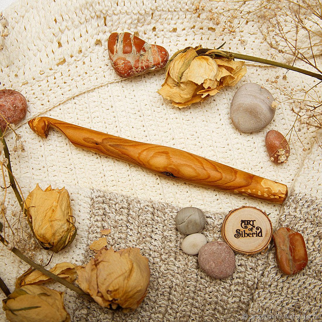 Деревянный Крючок для вязания 14 мм Вишня Крючки из дерева #K59, Инструменты для вязания, Новокузнецк, Фото №1