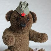 Мягкие игрушки ручной работы. Ярмарка Мастеров - ручная работа Клим - военный медведь. Handmade.