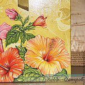 Для дома и интерьера ручной работы. Ярмарка Мастеров - ручная работа Доска разделочная Райский цвет, декупаж. Handmade.