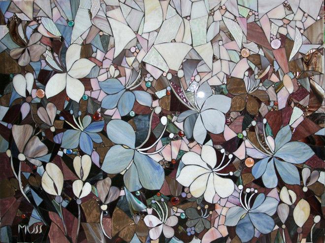 Купить мозаичное панно цветы где можно купить цветы чебоксарах