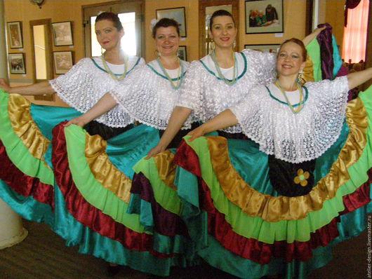 """Костюмы ручной работы. Ярмарка Мастеров - ручная работа. Купить Сценический костюм """"Мексика"""". Handmade. Мексиканский стиль, костюм для выступлений"""