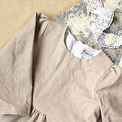 Работы для детей, ручной работы. Ярмарка Мастеров - ручная работа Льняное платье. Handmade.