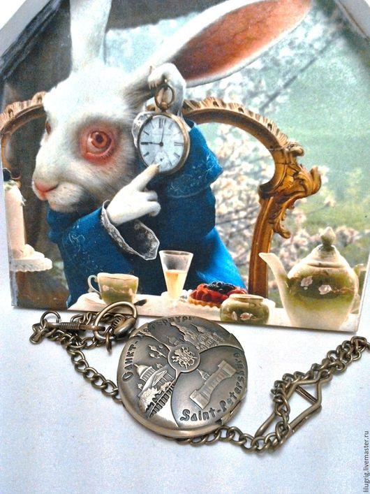 """Часы ручной работы. Ярмарка Мастеров - ручная работа. Купить Часы карманные бронзовые """"Город на Неве"""". Handmade. Часы, подарок"""