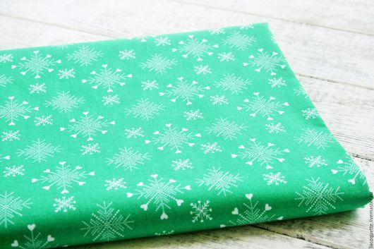 Шитье ручной работы. Ярмарка Мастеров - ручная работа. Купить США Рождественская ткань для пэчворка. Handmade. Ткань для пэчворка сша