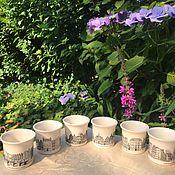 Винтаж handmade. Livemaster - original item Cups