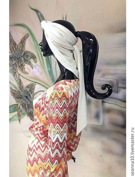 Повязки ручной работы. Ярмарка Мастеров - ручная работа. Купить Замшевая чалма трансформер из замшевого трикотажа белого цвета. Handmade.
