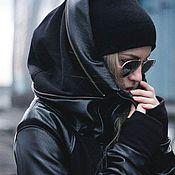 Одежда ручной работы. Ярмарка Мастеров - ручная работа Черная куртка толстовка ветровка. Handmade.