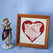 Подарки к праздникам handmade. Livemaster - original item Valentine in the frame.. Handmade.