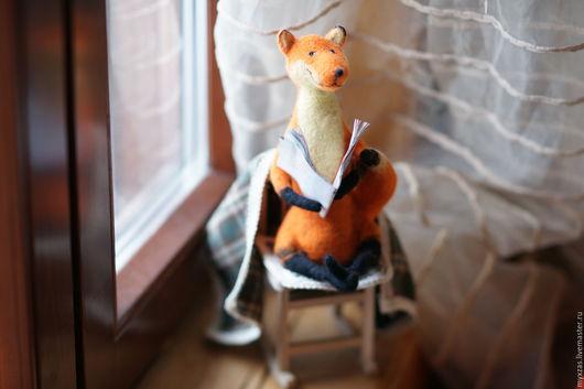 Игрушки животные, ручной работы. Ярмарка Мастеров - ручная работа. Купить Лис на зимовке. Handmade. Рыжий, подарок