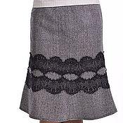 Одежда handmade. Livemaster - original item Skirt with lace. Handmade.