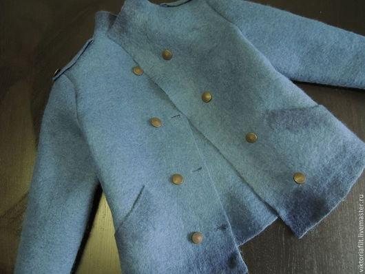 Пиджаки, жакеты ручной работы. Ярмарка Мастеров - ручная работа. Купить Валяный жакет. Handmade. Синий, валяный жакет в подарок