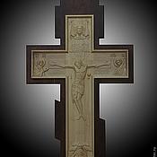 Картины и панно ручной работы. Ярмарка Мастеров - ручная работа деревянное Распятие Господа Иисуса Христа. Handmade.