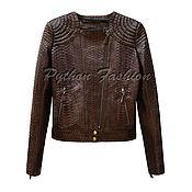 Одежда handmade. Livemaster - original item The jacket of Python-FLORENCE. Handmade.