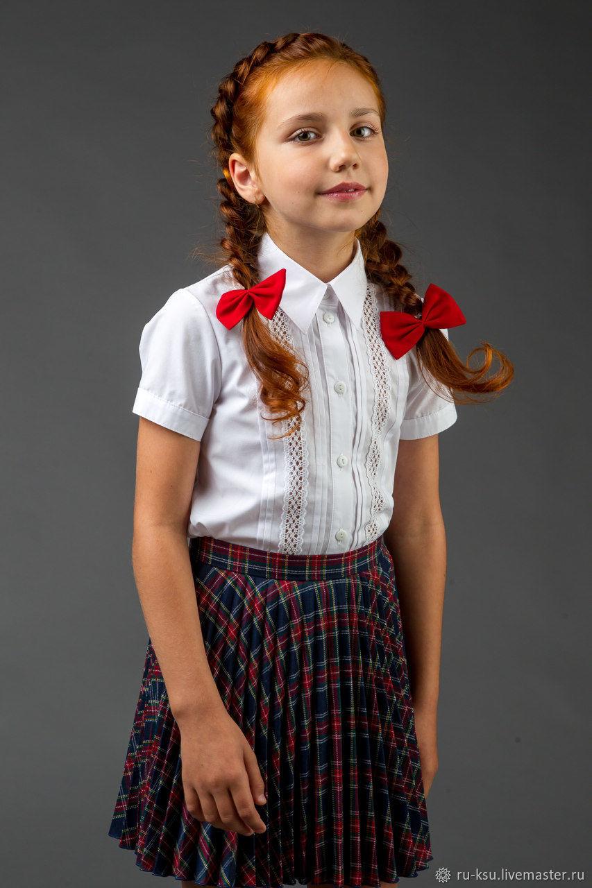 b59216aefeef7 Одежда для девочек, ручной работы. Ярмарка Мастеров - ручная работа. Купить  Блузка для ...